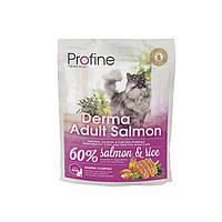 Profine Derma Adult Salmon корм для длинношерстных кошек с лососем, 300г