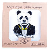 """Тарелка стеклокерамика с принтом панда """"Мишка Япончик"""", фото 2"""
