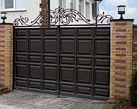 Филенчатые ворота распашные 2,8м*2м, фото 1