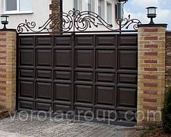 Филенчатые ворота распашные 2,8м*2м