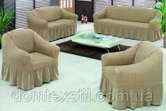 Чехлы на 3-х местный диван+2-х местный+2 кресла Макси размер Тм Evory home Турция.