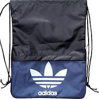 Прочный спортивный рюкзак-мешок 2 л. Adidas R000049 черно-синий