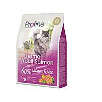 Profine Derma Adult Salmon корм для длинношерстных кошек с лососем, 2 кг