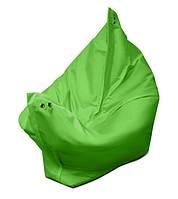 Ярко зеленое кресло мешок подушка 120*140 см из микро-рогожки, кресло-мат, фото 1