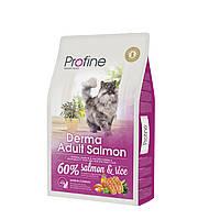 Profine Derma Adult Salmon корм для длинношерстных кошек с лососем, 10 кг