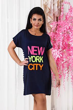 Д7074 Платье  размеры 52-56 Турция, фото 2