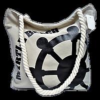 Женская пляжная сумка из ткани бежевого цвета WUU-100101