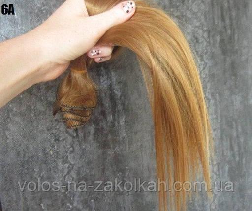 Волосы на заколках цвет №6А светло-золотой , фото 2