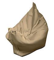 Кресло мешок подушка бежевое 120*140 см из кож зама, кресло-мат