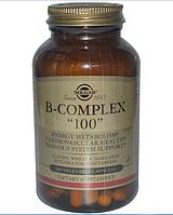 """Solgar, Комплекс витаминов группы B """"100"""", 100 растительных капсул"""