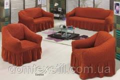 Чехлы на 3-х местный диван+2-х местный диван+2 кресла Макси размер Тм Evory home Турция.