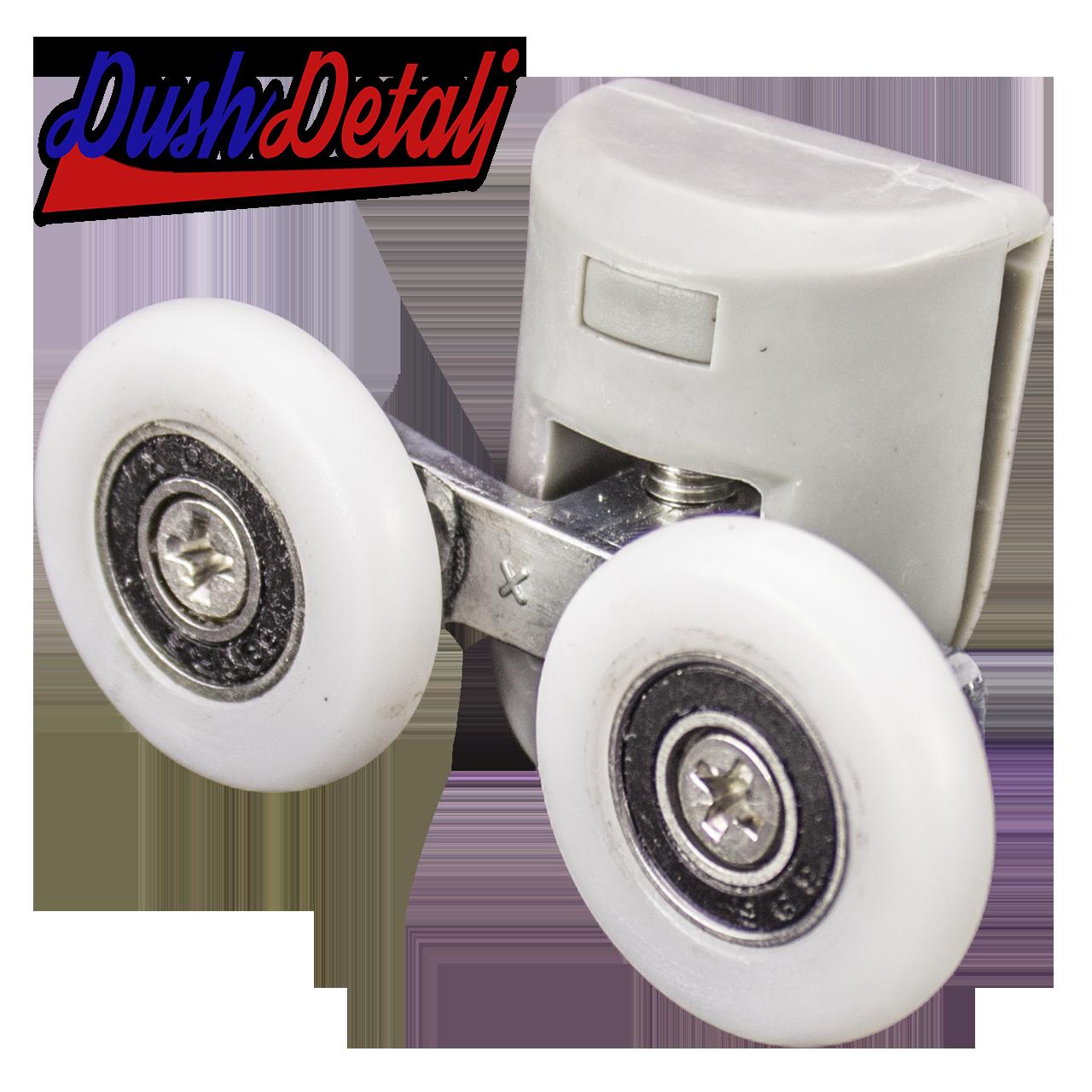 Ролик для душевой кабины двойной верхний серый ( В-43 С ) с колесом
