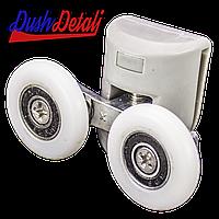 Ролик душевой кабины двойной верхний серый ( В-43 С ) с колесом