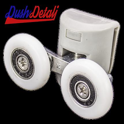 Ролик для душевой кабины двойной верхний серый ( В-43 С ) с колесом, фото 2