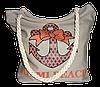 """Женская пляжная сумка из ткани бежевого цвета """"Якорь"""" WUU-100103"""