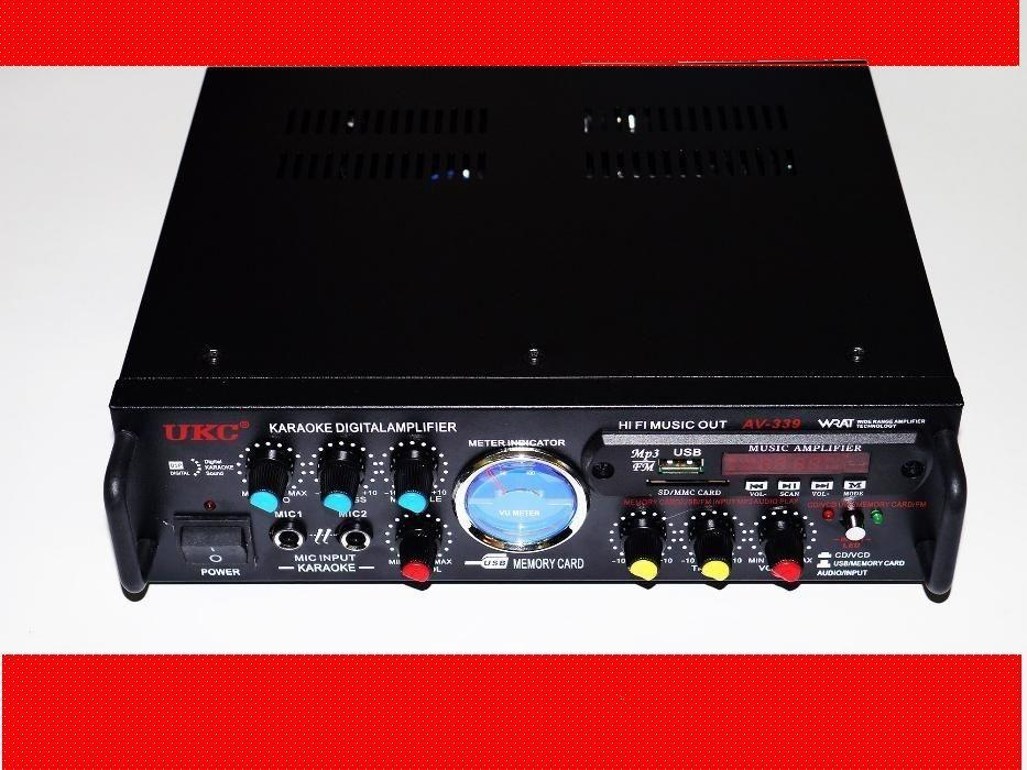 Усилитель звука UKC AV-339A + USB с караоке