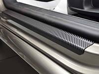 Накладка на задний бампер BMW M5 (E60) 2006-2010 3D карбон черного цвета из нержавеющей стали
