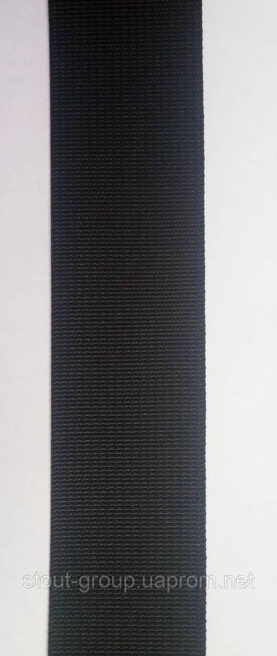 Лента ременная полиамидная 50 мм. чёрная