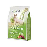 Profine Indoor Adult Lamb корм для кошек с ягненком, выведение шерстяных комочков, 2 кг