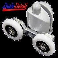 Ролик душевой кабины двойной, нижний, нажимной, серый ( В-43 Д )