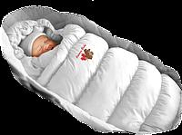 Конверт-пуховик белый (ЗИМА)