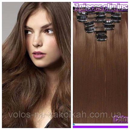 Волосы на заколках цвет №10 темно-русый(средне-коричневый), фото 2