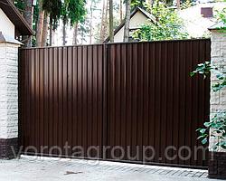 Розпашні ворота з профнастилу 3 200 * 2 400 мм