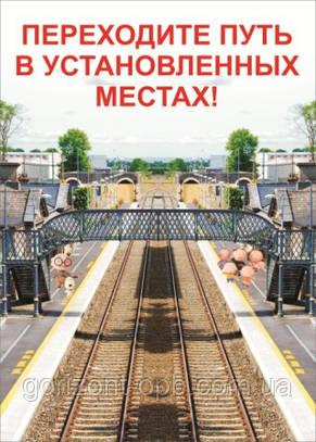 Плакат «Переходите путь в установленных местах!»