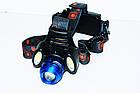 Мощный налобный фонарь Police BL-2117-T6+2COB , фото 3