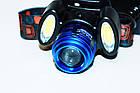 Мощный налобный фонарь Police BL-2117-T6+2COB , фото 4