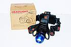 Мощный налобный фонарь Police BL-2117-T6+2COB , фото 6
