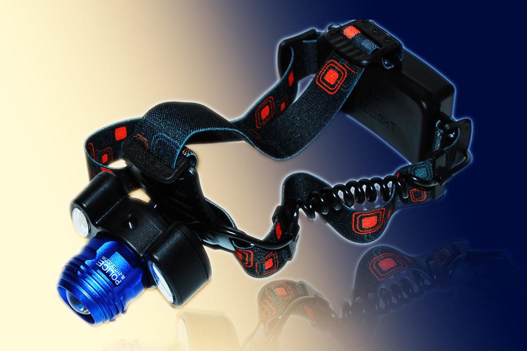 Мощный налобный фонарь Police BL-2117-T6+2COB