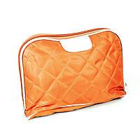 Косметичка стеганая оранжевая 24 х 15 х 7 см