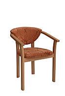 Деревянный мягкий стул с подлокотниками Гуттен, стул-кресло для ресторанов, для кафе, для баров, для гостиниц