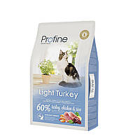 Profine Light Turkey корм для кошек с индейкой, оптимизация веса, 10 кг