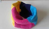 Детский вязанный шарф-хомут