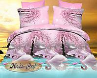 """Двуспальное постельное бельё для любви """"Лебединая верность"""" ."""