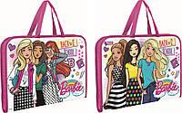 """491140 Папка-портфель на молнии  с тканевыми ручками """"Barbie"""""""