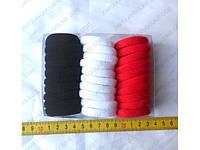 Резинки бесшовные красно-бело-черные