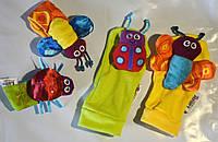 Носочки с погремушками разноцветные