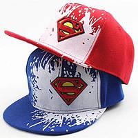 Кепка Супермен SnapBack Superman, снэпбек, снепбек с прямым козырьком