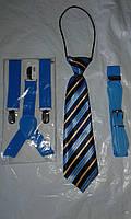 Джентльменский набор (галстук в полоску) Голубой