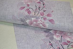 Обои на стену, цветы, сереневый,  акрил на бумаге, Лейла 7048-07, цветок, 0,53*10м, фото 2