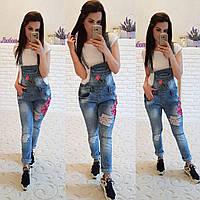 Комбинезон качество-люкс джинс коттон(немного тянется ) ПРОИЗВОДСТВО ТУРЦИЯ ДГ №1280