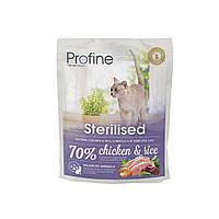 Profine Sterilised корм для стерилизованных кошек с курицей и рисом, 300 г