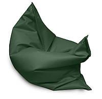 Зеленое кресло мешок подушка 120*140 см из кож зама, кресло-мат