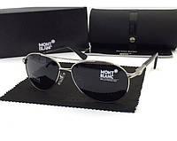 Солнцезащитные очки в стиле Montblanc (2956) silver, фото 1