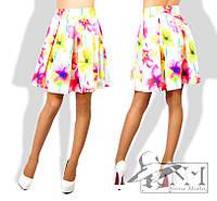 """Стильная женская юбка  """"Цветы"""""""