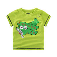 Детская футболка мальчику с самолетиком .