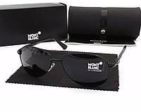 Солнцезащитные очки в стиле Montblanc (2956) black, фото 1